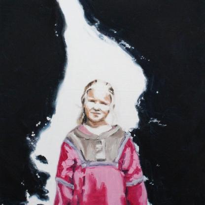 Intergalactic Immigrants, 2017, oil on linen, 44 x 42 cm