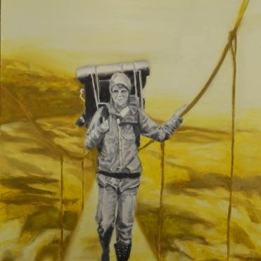Apocalypse II, 2015, oil on paper, 56 x 42 cm