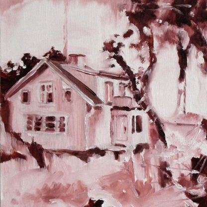 Archive II: The House, 2017, oil on board, 20 x 15 cm