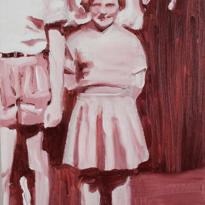 Archive VII The girl, 2017, oil on wooden board, 20 x 15 cm