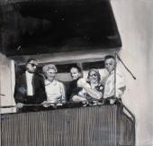 Archive VI The Party, 2017, oil on linen, 40 x 42 cm