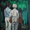 Där ute står mörkret och tittar in, 2016, oil on linen, 73 x 73 cm