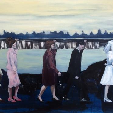Procession, 2015, oil on linen, 80x120 cm