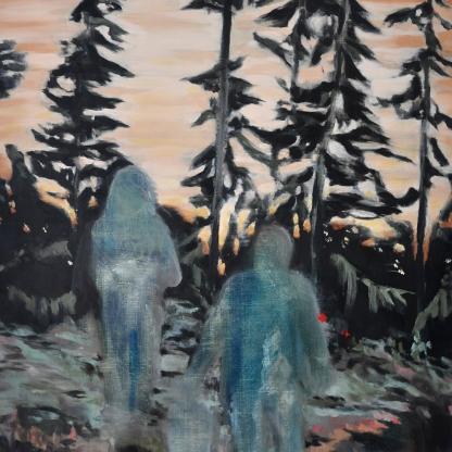 Spectre, 2016, oil on linen, 73 x 50 cm