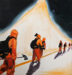 Rescue, 2017, oil on linen, 42 x 44 cm