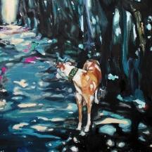 Hunddagar; 2018, olja på duk, 54 x 66 cm