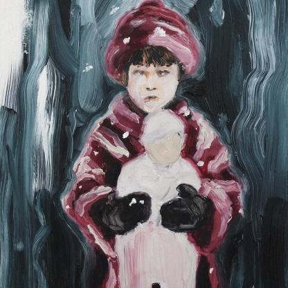 Doll; 2018, oil on wooden board, 20 x 15 cm