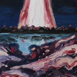 Sightings, mysteries, fantasies III; 2019, oil on linen, 27 x 21 cm