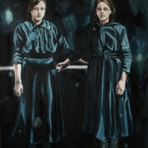 Totem I; 2019, oil on linen, 220 x 150 cm