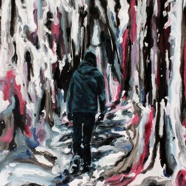 Färdväg skogen, 2019, oil on linen, 50 x 40 cm