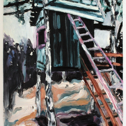 Gömsle I, 2019, oil on paper, 40 x 30 cm