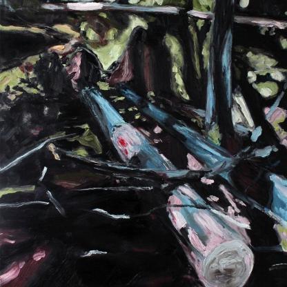 Rotvälta I, 2019, oil on linen, 80 x 60 cm
