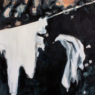 Mina minnen hänger i skymningen, 2020, oil on linen, 50 x 40 cm